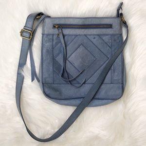 LUCKY BRAND. Blue leather crossbody bag
